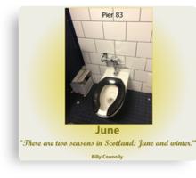Toilets of New York 2015 June - Pier 83 Canvas Print