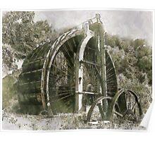 Industrial Revolution - Burden Iron Works Water Wheel Poster