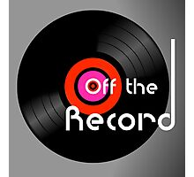 Off The Record Photographic Print