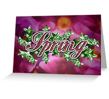 Spring - 4 Seasons Print Range Greeting Card