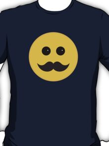 Yellow Smiley Emoticon With Black Mustache T-Shirt