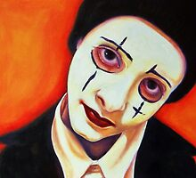 Clown Face by julietsmithart