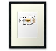 castiel - hey, assbutt Framed Print