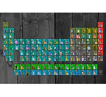 License Plate Art Recycled Periodic Table Of The Elements By Design Turnpike Photographic Print