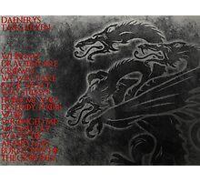 Daenerys Targaryen Mother Of Dragons Photographic Print