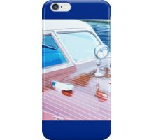 Wooden Boat Abstract iPhone Case/Skin