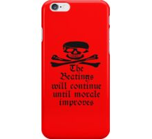 Pirate Morale, Skull & Crossbones, Bucaneers, Me Harties! iPhone Case/Skin