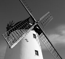 WINDMILL IN BLACK AND WHITE by GemPhotography