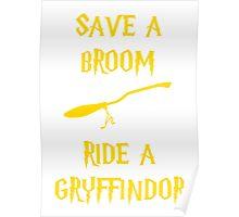 Harry Potter Ride a Gryffindor Poster