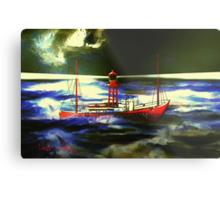 The South Goodwin Light Vessel - all products except duvet Metal Print