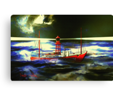 The South Goodwin Light Vessel - all products except duvet Canvas Print