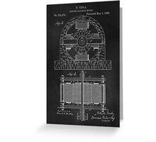 Tesla Coil Patent Art Greeting Card