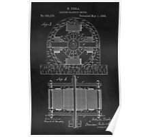 Tesla Coil Patent Art Poster