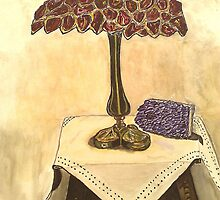 red table lamp . by zangi12