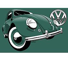 VW Beetle type 1 green Photographic Print