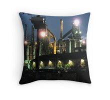 The Bethlehem Steel Mill During the Filming of Transformers 2 Throw Pillow