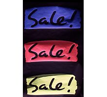 Sale Poster  Photographic Print