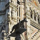 She wolf statue, Siena Cathedral, Siena, Italy by buttonpresser
