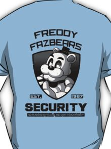 Five Nights At Freddy's Security Logo (Black and white) T-Shirt