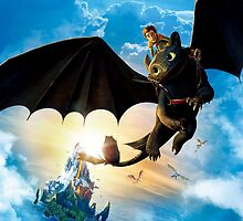 Hiccup Riding Toothless by Ianveenstra