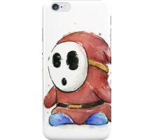 Shy Guy Watercolor iPhone Case/Skin