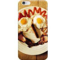 Friendly Breakfast Face  iPhone Case/Skin