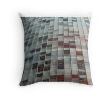 skyscraper with solar blinds Throw Pillow