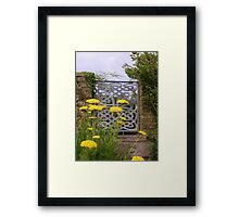 Yellow Tansy and a Gate Framed Print
