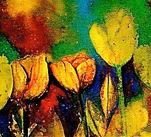 The Tulip Bed by © Janis Zroback