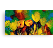 The Tulip Bed Canvas Print