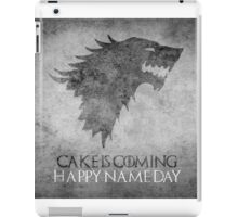 Game of Thrones Birthday: Happy Name Day, Cake is Coming iPad Case/Skin