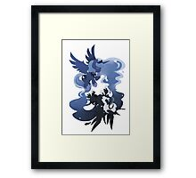MLP: Luna + Nightmare Moon Framed Print