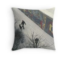 Berlin Wall 1987 Throw Pillow