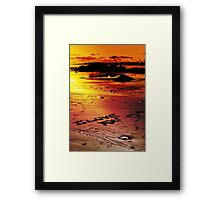 Love On The Beach (color version) Framed Print