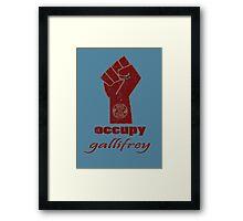 Occupy Gallifrey - Doctor Who Framed Print