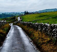 An English Country Road, Peak District by focusonphotos