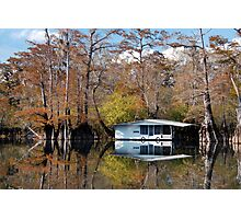 Houseboat in the Middle of Nowhere Photographic Print