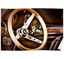 Mustang steering wheel Poster