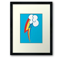 Rainbow Dash's Cutie Mark Framed Print