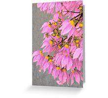 Vintage pink Greeting Card