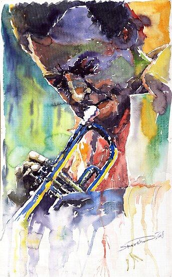 Jazz Miles Davis 9 Blue by Yuriy Shevchuk