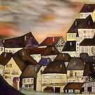 Village inspired by Schiele  by fabKelly