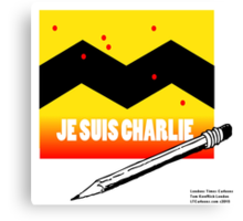Je Suis Charlie To Benefit Charlie Hebdo  Canvas Print