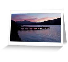 Lake Kaniere at dusk Greeting Card