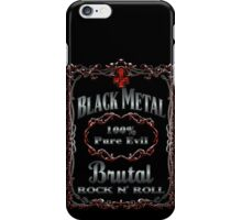 BLACK METAL 100% PURE EVIL iPhone Case/Skin