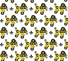 Black and Gold Dog Pattern by StudioBlack