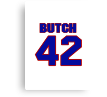National baseball player Butch Wensloff jersey 42 Canvas Print