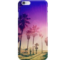 Colorful Palm Trees on a Beach iPhone Case/Skin