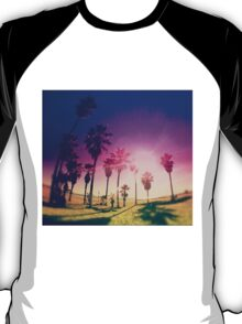 Colorful Palm Trees on a Beach T-Shirt