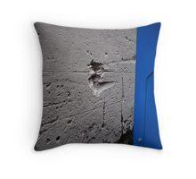 Blue machine Throw Pillow